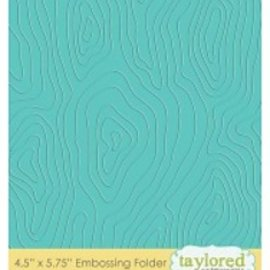 Taylored Expressions Embossingfolder, motivo de la madera