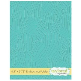 Taylored Expressions Embossingfolder, houtmotief