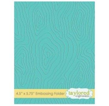 Taylored Expressions Embossingfolder, caratterizzato da legno