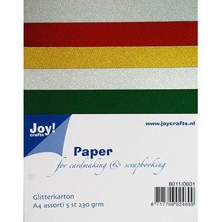 Karten und Scrapbooking Papier, Papier blöcke A4 Glitterkarton