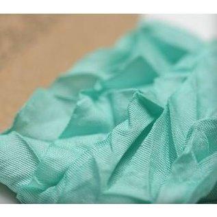DEKOBAND / RIBBONS / RUBANS ... Shabby Aquamarine 10mm Ribbon 1m