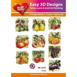 Bilder, 3D Bilder und ausgestanzte Teile usw... 10 verschillende 3D-ontwerpen, thema: Fruit