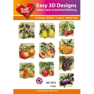 Bilder, 3D Bilder und ausgestanzte Teile usw... 10 verschiedenen 3D Motive, Thema: Obst