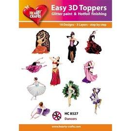 Bilder, 3D Bilder und ausgestanzte Teile usw... 10 different 3D designs, theme: Dancer