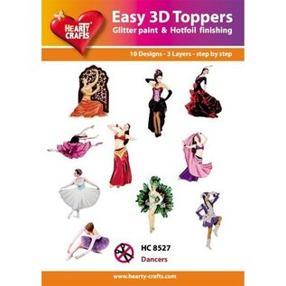 Bilder, 3D Bilder und ausgestanzte Teile usw... 10 verschillende 3D-ontwerpen, thema: Danser