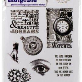 """LaBlanche Rubber stamp, IndigoBlu, """"Take The Time"""", A5"""