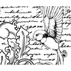 LaBlanche Rubber stamp, IndigoBlu Antique Songbird Mounted A6