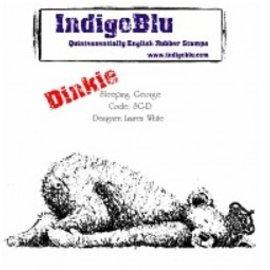 LaBlanche Sello de goma, IndigoBlu Dormir George Dinkie Montada A7