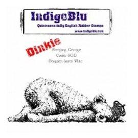 LaBlanche Rubber stamp, IndigoBlu Sleeping George Dinkie Gendarmerie A7