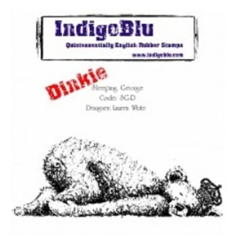 LaBlanche Rubber stamp, IndigoBlu Sleeping George Dinkie Mounted A7