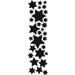 Stempling og prægning stencil, Marianne Design stjerner