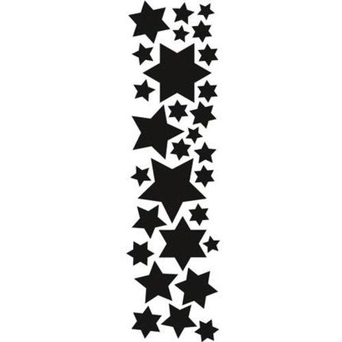 Marianne Design Stempling og prægning stencil, Marianne Design stjerner