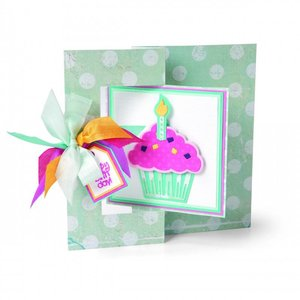 Sizzix Stampen en Embossing stencil, Sizzix, ThinLits, Cupcakes