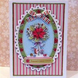 Docrafts / Papermania / Urban Sellos claros, sello Mini-precisión, Pippi Madera Navidad