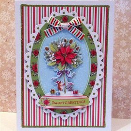 Docrafts / Papermania / Urban Transparent Stempel, Mini-Präzisionsstempel, Pippinwood Christmas