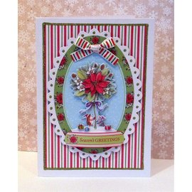 Docrafts / Papermania / Urban Clear stamps, Mini-precision stamp, Pippi Wood Christmas
