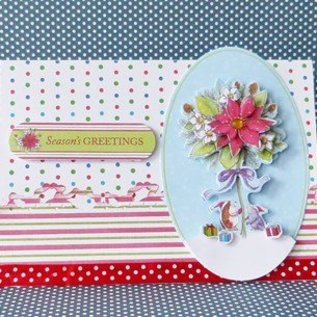 Docrafts / Papermania / Urban Clear stempels, Mini-precisie stempel, Pippi Wood Kerstmis