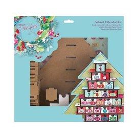 Docrafts / Papermania / Urban Weihnachtsdeko basteln, Bastelset für einen Adventskalender Lucy Cromwell At Christmas