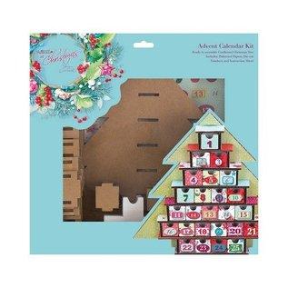 Docrafts / Papermania / Urban Adventskalender SET Calendar Kit - Lucy Cromwell Met Kerstmis
