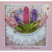 Stamping and Embossing stencil, Sizzix, ThinLits, Flower, Lilac