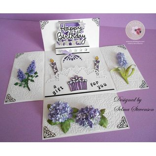 Sizzix Stampen en Embossing stencil, Sizzix, ThinLits, Bloem, Lilac