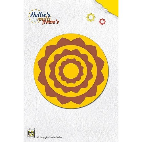 Nellie Snellen Punching and embossing template Nellie`s multiframe round