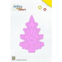 Stanz- und Prägeschablone, Nellie`s Multi Rahmen, Weihnachtsbaum