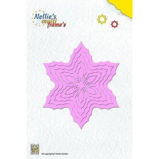 Nellie Snellen Stanz- und Prägeschablone, Nellie`s Multi Rahmen, Poinsettia