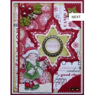 Nellie Snellen Punching and embossing template Nellie`s multiframe, Poinsettia
