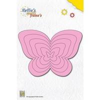 Stanz- und Prägeschablone, Nellie`s Multi Rahmen, Schmetterlinge