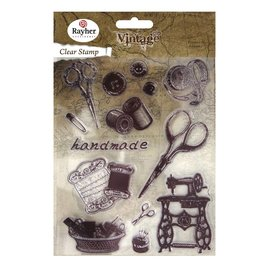 Spellbinders und Rayher Clear stamps, vintage handwork