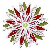 Sizzix Stanz- und Prägeschablone, Sizzix Stanzer Framelits mit Stempel Set Blumen Sterne 17tlg Set