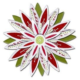 Sizzix Estampado y Repujado plantilla, Sizzix perforar Framelits con flores colocadas sello estrella 17tlg Set