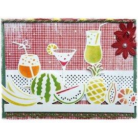 Joy!Crafts / Jeanine´s Art, Hobby Solutions Dies /  Punzonado y cliché de estampado frontera con frutas