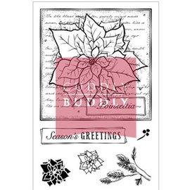 Studio Light Klare frimerker, julemotiv, Poinsettia Collage