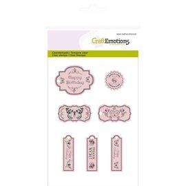 Craftemotions Transparent Stempel, Etiketten Botanical