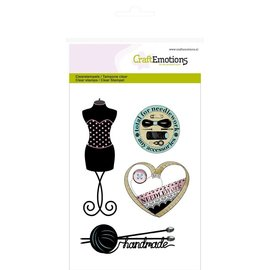 Crealies und CraftEmotions Clear stamps, la mode, la couture