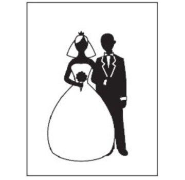 embossing Präge Folder Prægning mapper, tema: Bryllup