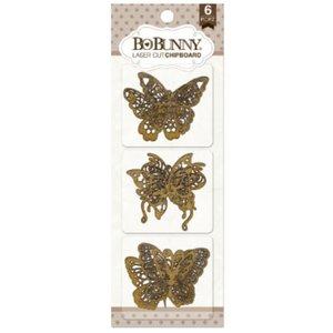 BO BUNNY Bo Bunny laserskåret spånplader, sommerfugle