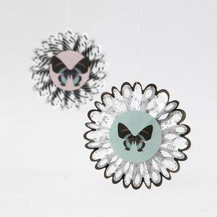 Komplett Sets / Kits Bastelset, rozetten, D: 8 cm, 6 stuks