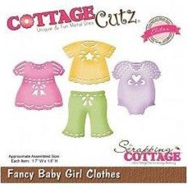 Cottage Cutz Perforación y la plantilla de estampado CottageCutz: ropa de la muchacha del bebé