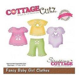 Cottage Cutz Ponsen en embossing sjabloon CottageCutz: Baby meisje kleding