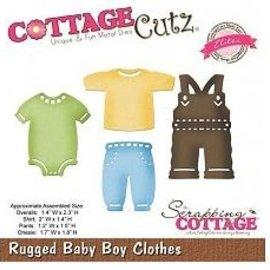 Cottage Cutz Ponsen en embossing sjabloon CottageCutz: Baby boy kleren