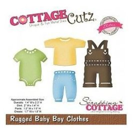 Cottage Cutz Ponsen en embossing sjabloon CottageCutz: Baby boy kleren
