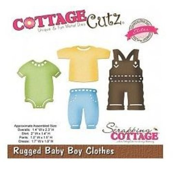 Cottage Cutz Punching and embossing template CottageCutz: Baby boy clothes