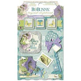 BO BUNNY Sticker, Chipboard Enchanted Garden, sortiert