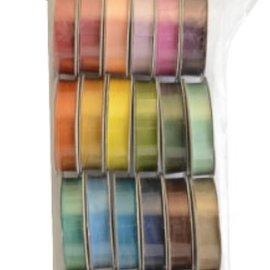 DEKOBAND / RIBBONS / RUBANS ... Et sæt af 24 Satin dekorative bånd, farve-koordineret!
