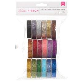 DEKOBAND / RIBBONS / RUBANS ... Een reeks van 18 Glitter decoratieve linten !!