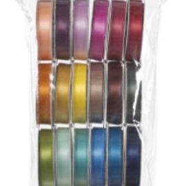 DEKOBAND / RIBBONS / RUBANS ... Un ensemble de 24 satin rubans décoratifs, la couleur-coordonné! - Copy