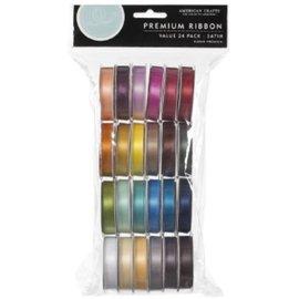 DEKOBAND / RIBBONS / RUBANS ... Un conjunto de 24 satén cintas decorativas, coordinado color! - Copy